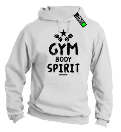 Gym Body Spirit - bluza z kapturem męska