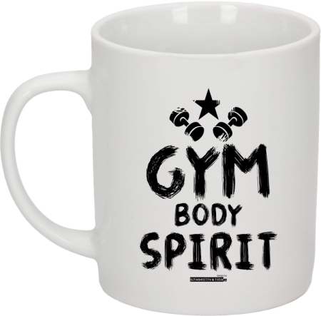 Gym Body Spirit - kubek na kawę