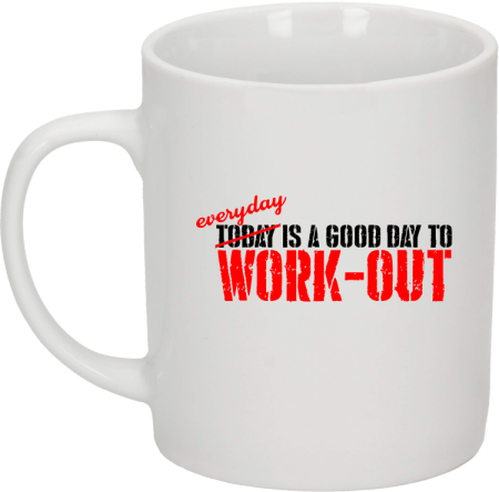Everyday is a good day to work-out - kubek biały 330 ml