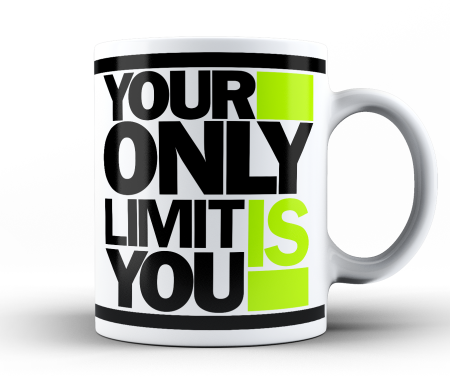 Your only limit is you - kubek biały 330 ml