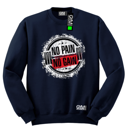No Pain No Gain Cracked Round - bluza męska bez kaptura standard