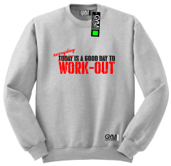 Everyday is a good day to work-out - bluza męska bez kaptura standard melanż