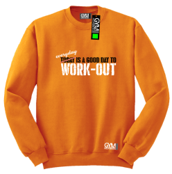 Everyday is a good day to work-out - bluza męska bez kaptura standard pomarańczowa