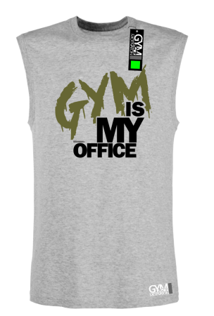 Gym is my Office - koszulka TOP męski