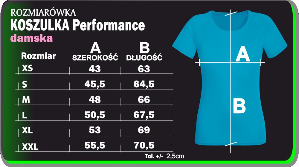 koszulka performance damska girl oddychająca sportowa